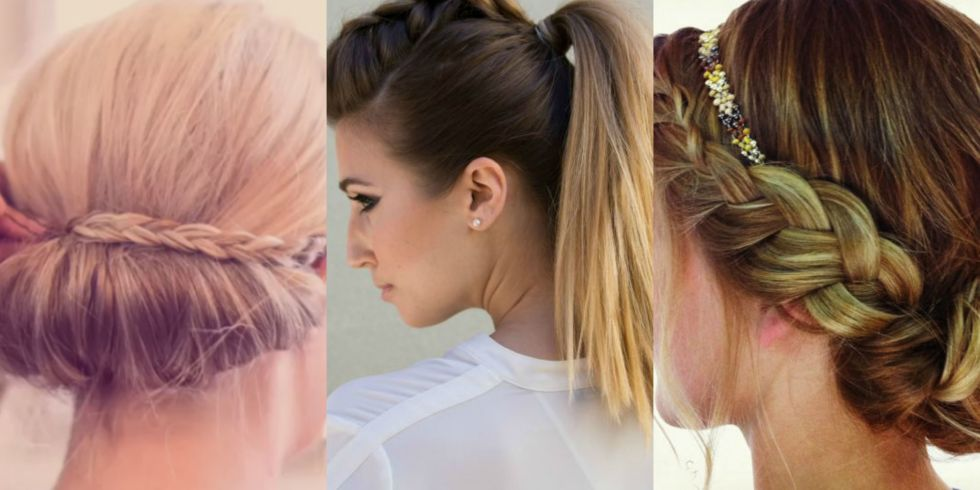 Pleasing 9 Easy Braid Hacks For When You Just Don39T Have Time Easy Hair Short Hairstyles Gunalazisus