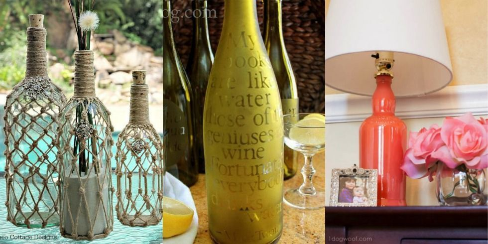 9 diy crafts you can make using empty spirit bottles for Cool things to do with a wine bottle