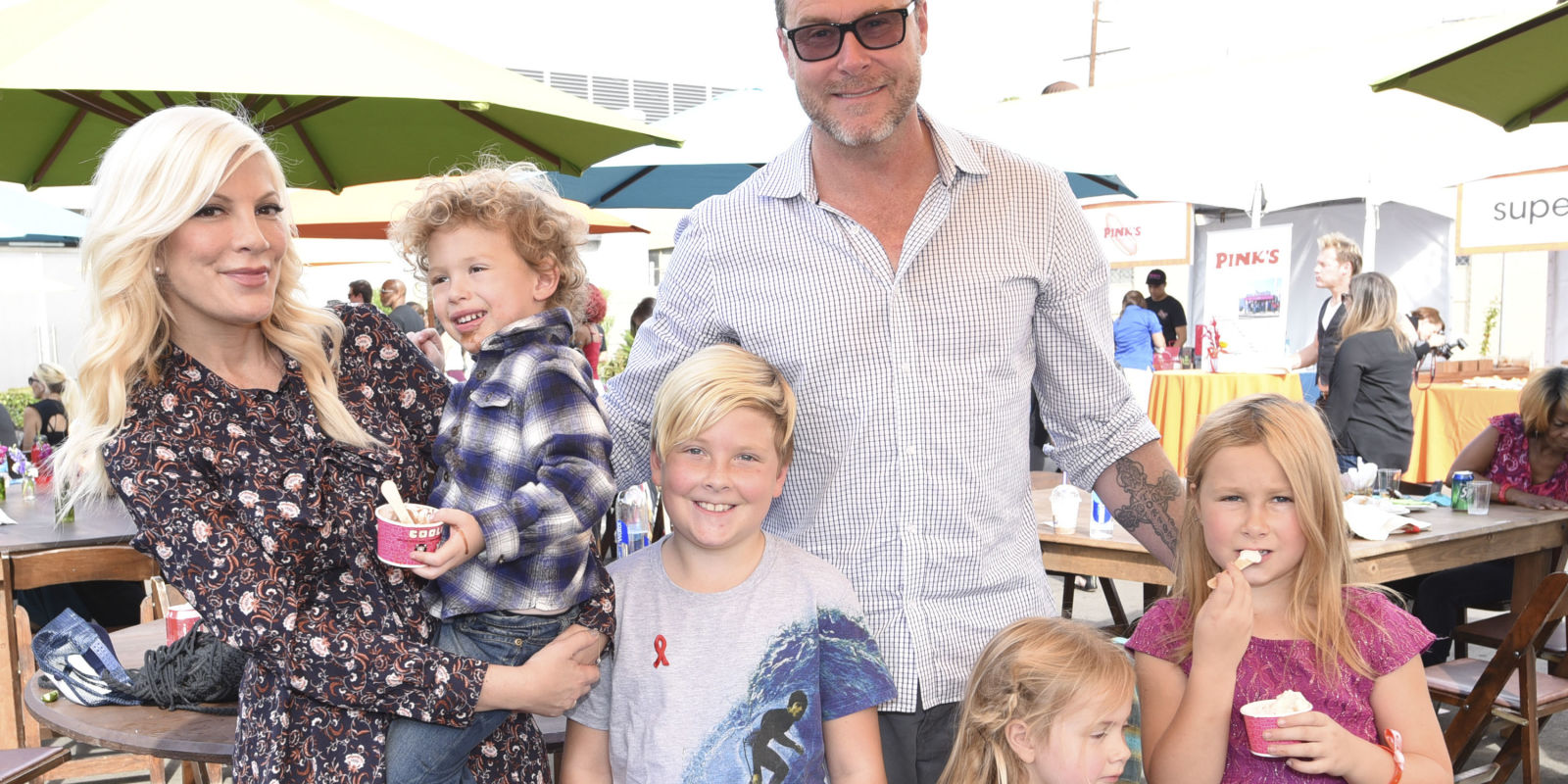 Tori Spelling and Dean...