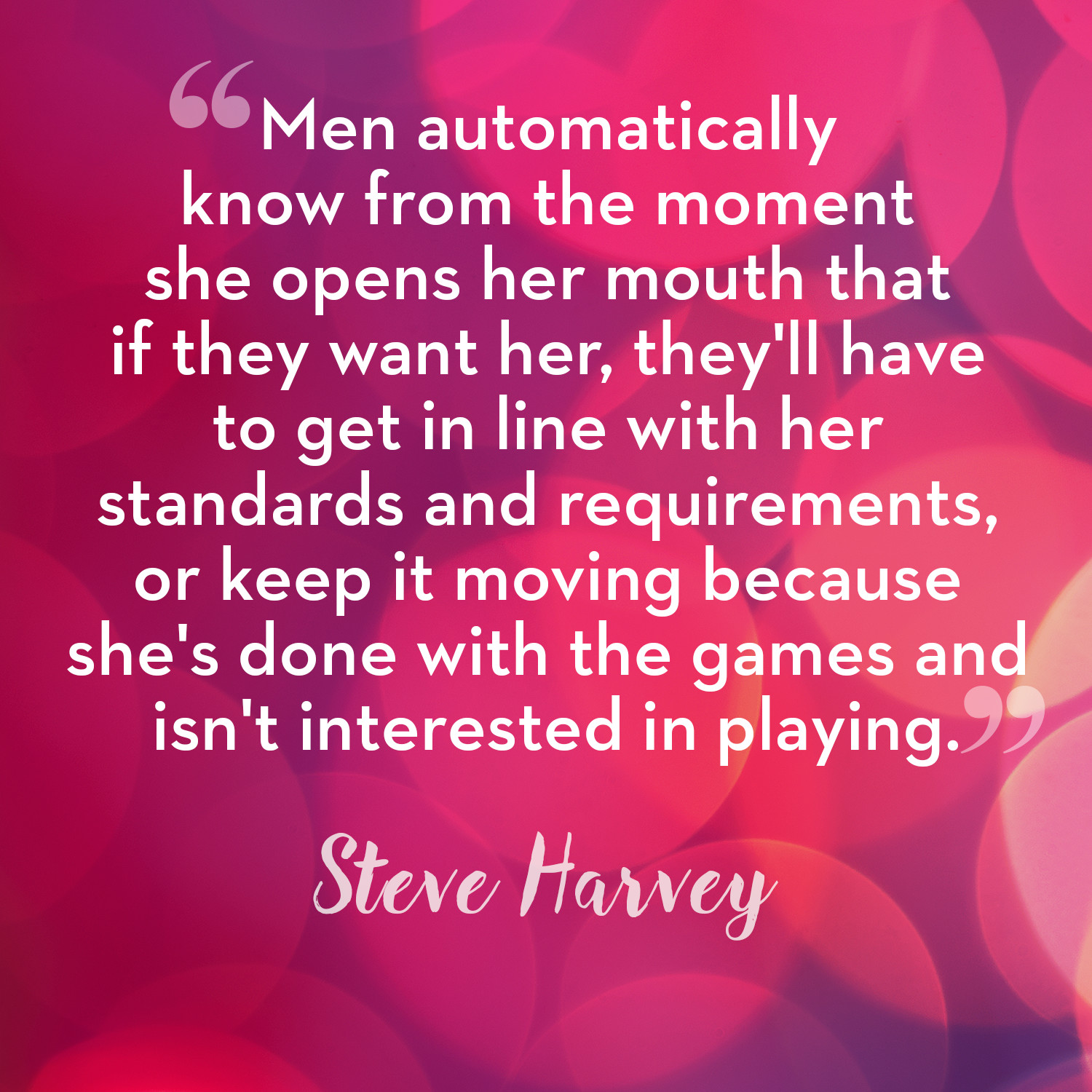 steve harvey dating advice