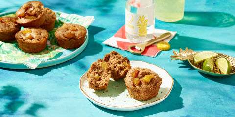 Caramelized Plantain and Pineapple Muffins Yes, Please