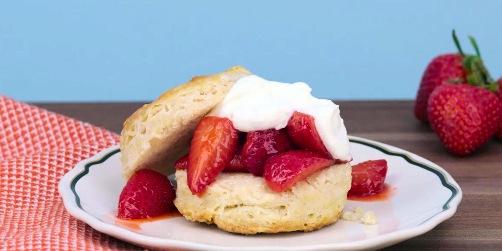 Roasted Strawberry Shortcake Recipe - Watch How to Make ...