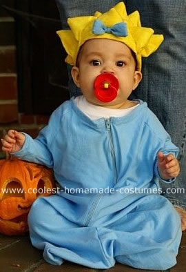 maggie simpson baby costume - Diy Halloween Baby Costumes
