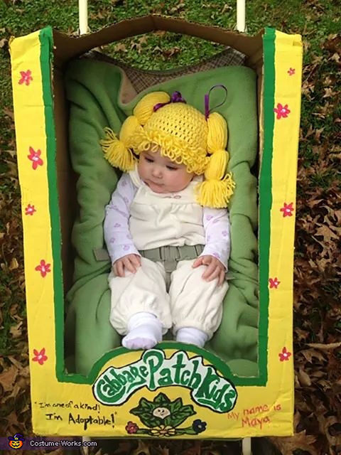 Cute diy baby halloween costume ideas best homemade infant halloween costumes for Cabbage patch halloween costume