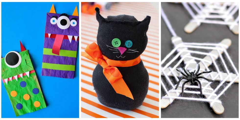 even the littlest kids can handle these seasonal arts and crafts projects - Diy Halloween Decorations For Kids