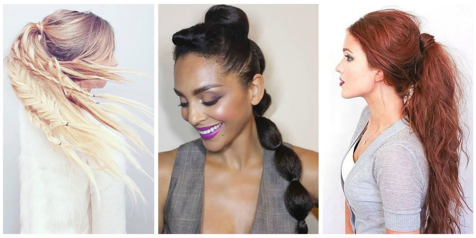 Magnificent Ponytail Hairstyles 5 Easy Ponytail Looks For The Work Week Short Hairstyles Gunalazisus