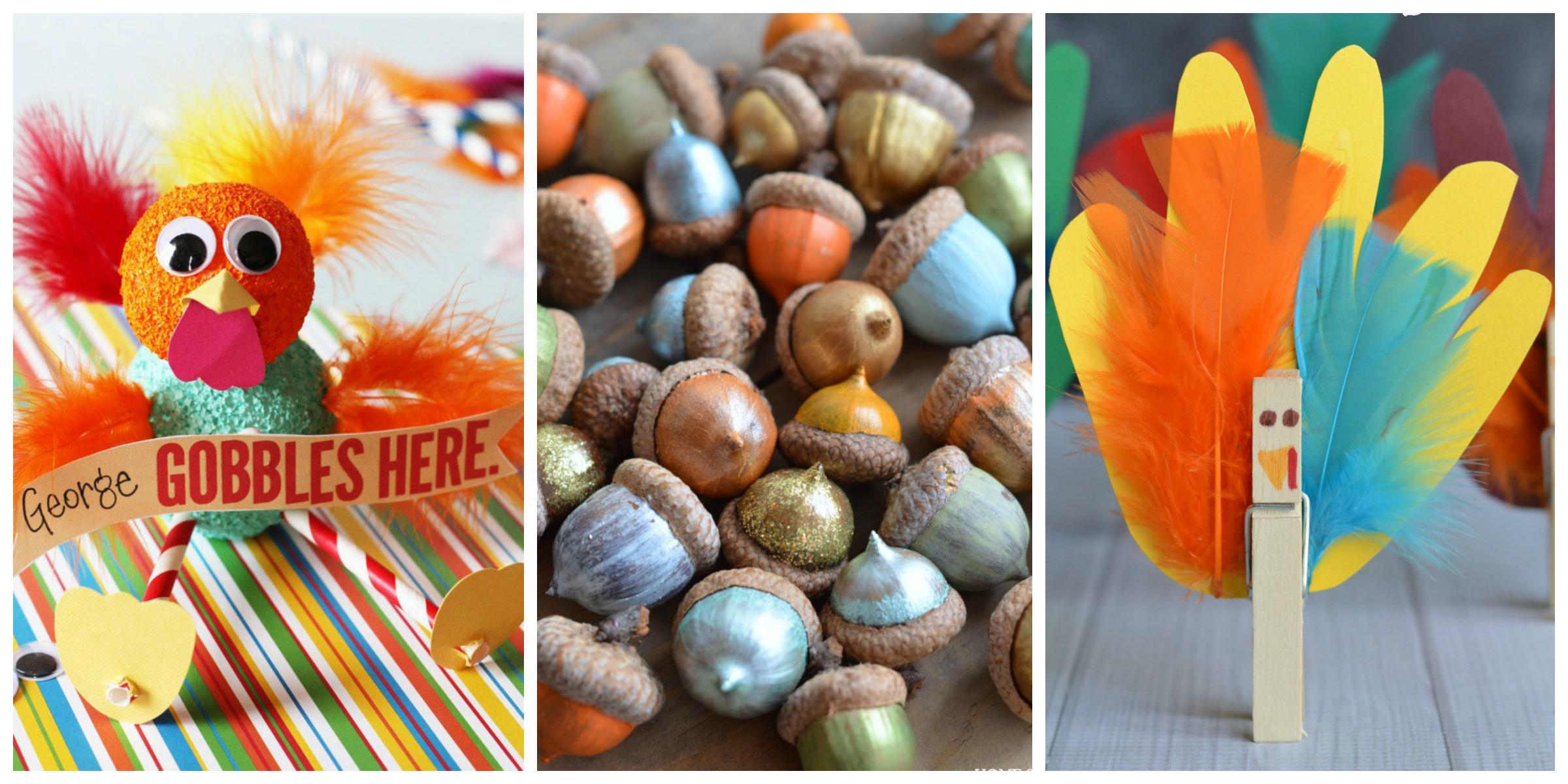 Easy diy thanksgiving crafts for kids best