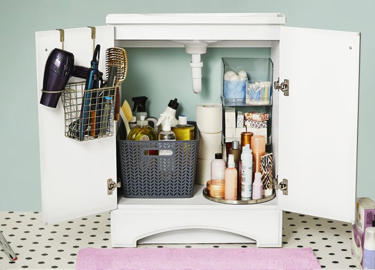 Under Bathroom Sink Organizer Ideas Bathroom Sink Storage 15
