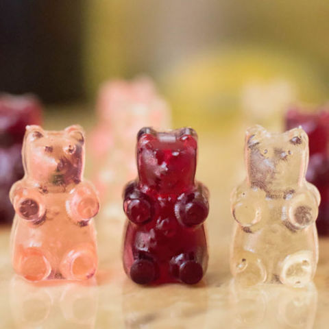 For another kid-classic made adult-friendly, make your own wine-infused gummy bears. This recipe works with any variation of wine – red, white, and rosé – but red wine gummies are likely to pack the biggest punch. Get the recipe at Cooking With Janica.