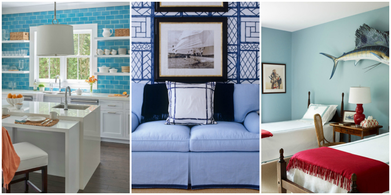decorate your home in blue and white chic home decorating ideas