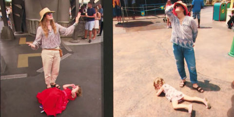 Drew Barrymore Deals With Her Kids Tantrums at Disney in the Best Way