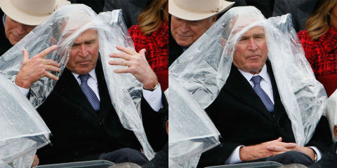 George W. Bush Addresses His Poncho Debacle from Donald Trumps Inauguration