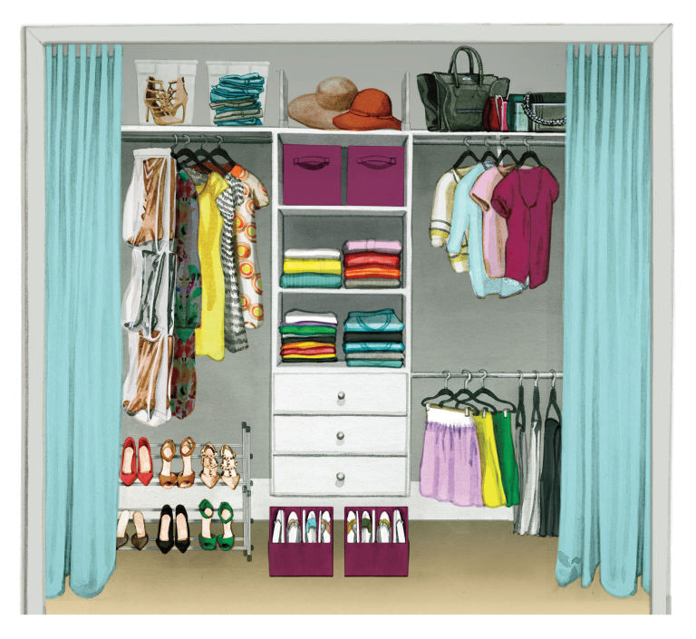 organizing tips - how to make more room in your closet