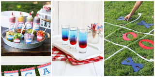 Backyard Party Ideas fun outdoor party ideas Bring On The Red White And Blue Backyard Party Ideas