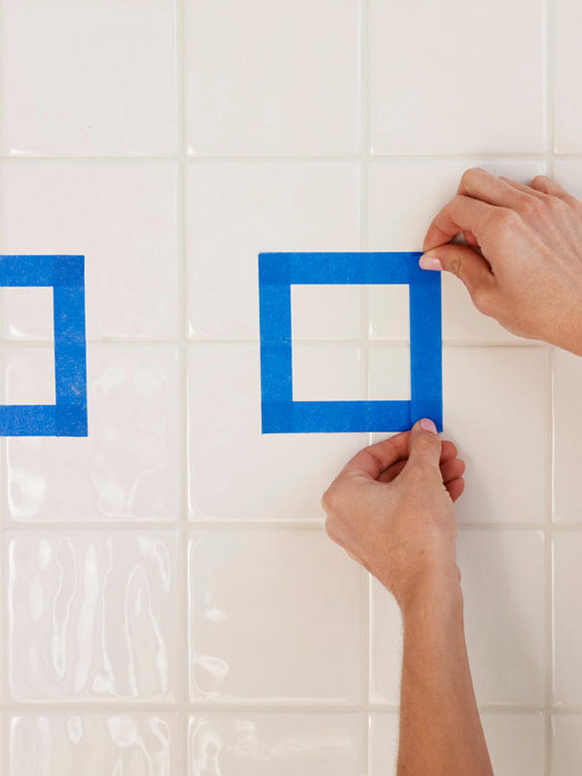 Painting Bathroom Tile Board how to paint ceramic tile - diy painting bathroom tile
