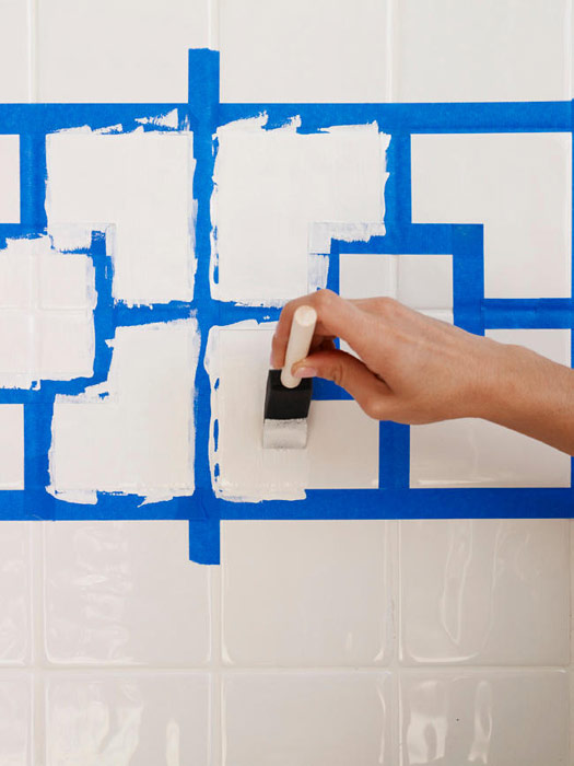 Painting Tile In Bathroom how to paint ceramic tile - diy painting bathroom tile