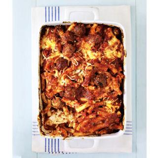 Baked Ziti with Meatballs Recipe
