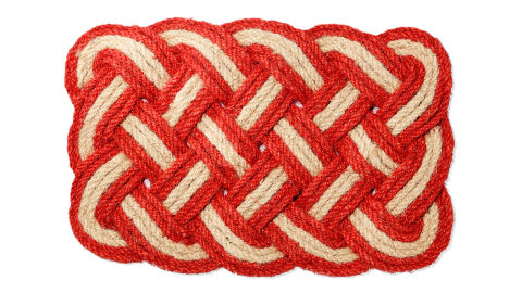 how to make a lobster rope doormat