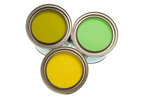Green And Yellow Paint Accessories And Home Decor How