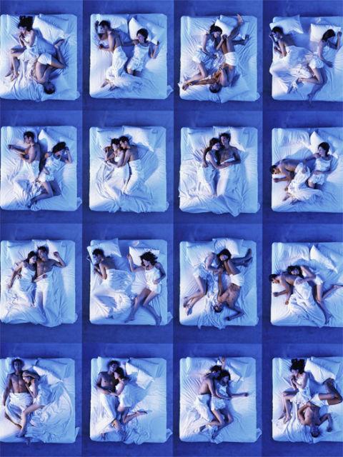 Nude sleeping couple positions