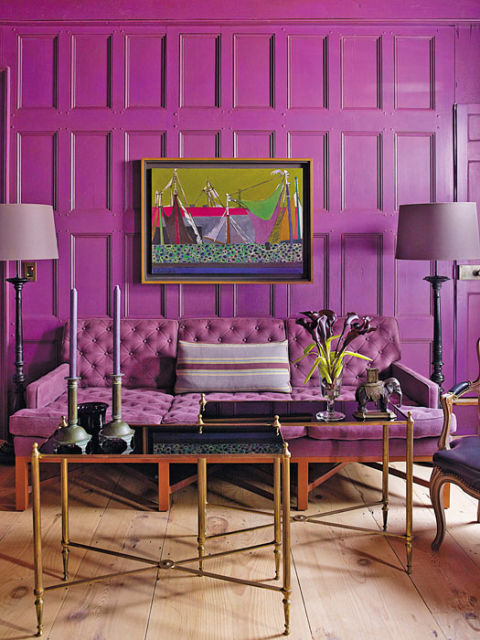 Purple Paint, Accessories and Home Decor - How To Decorate With Purple