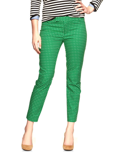 green ankle pants - Pi Pants
