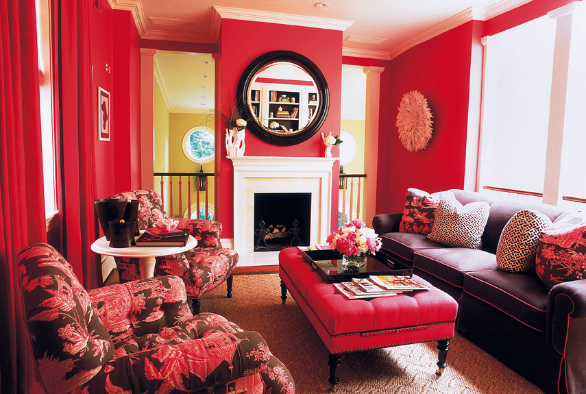 decorating with red paint