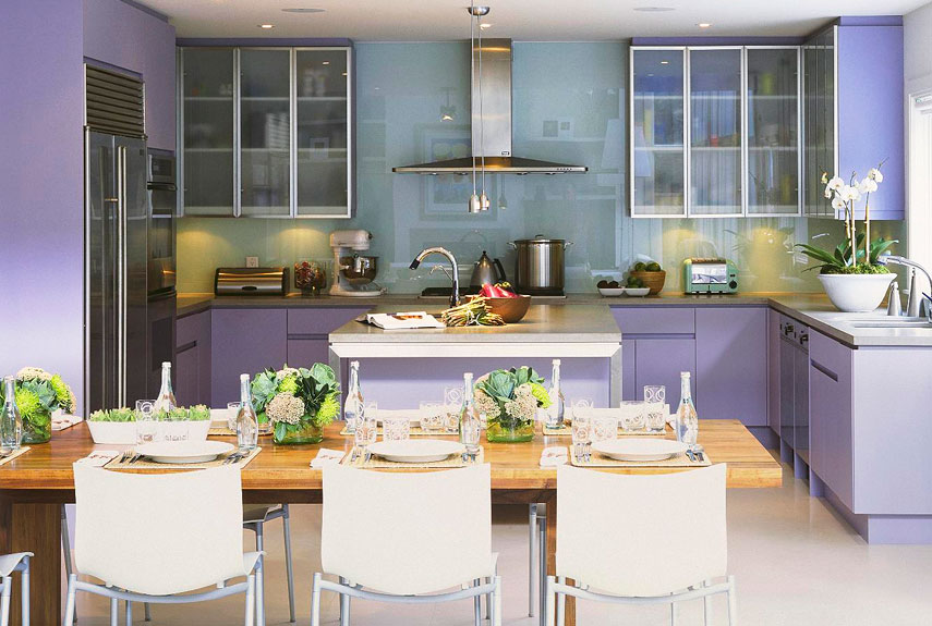 Purple paint accessories and home decor how to decorate for Purple paint in kitchen