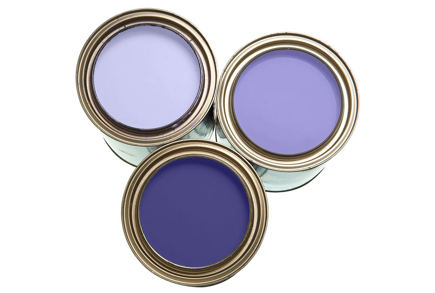 Decorate With Paint purple paint, accessories and home decor - how to decorate with purple