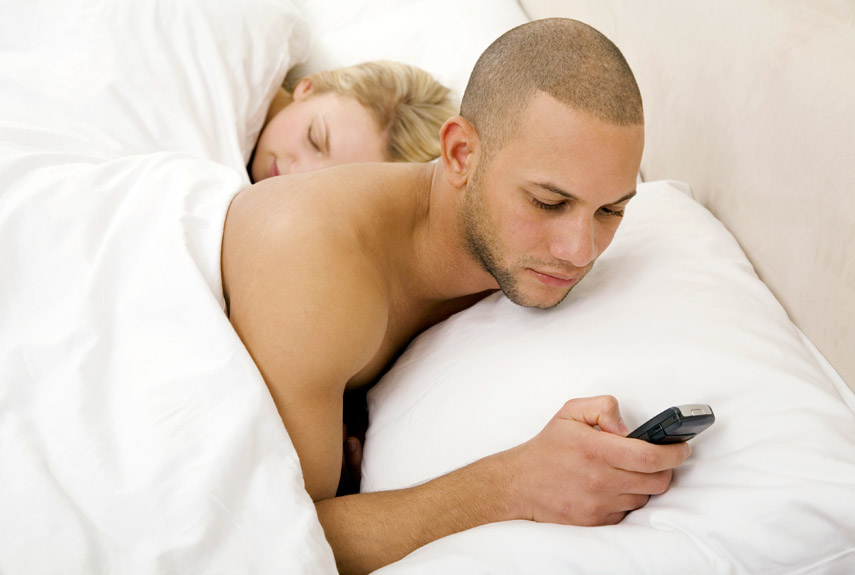 Caught my husband sexting another woman