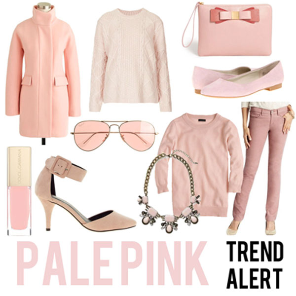Pale Pink Clothes And Accessories For Winter 2017