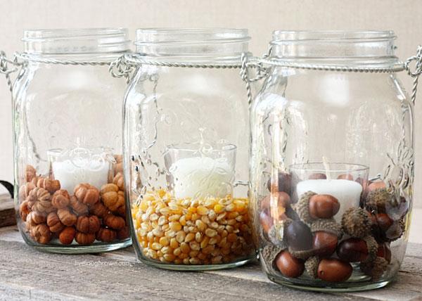 Fall decor mason jar craft ideas