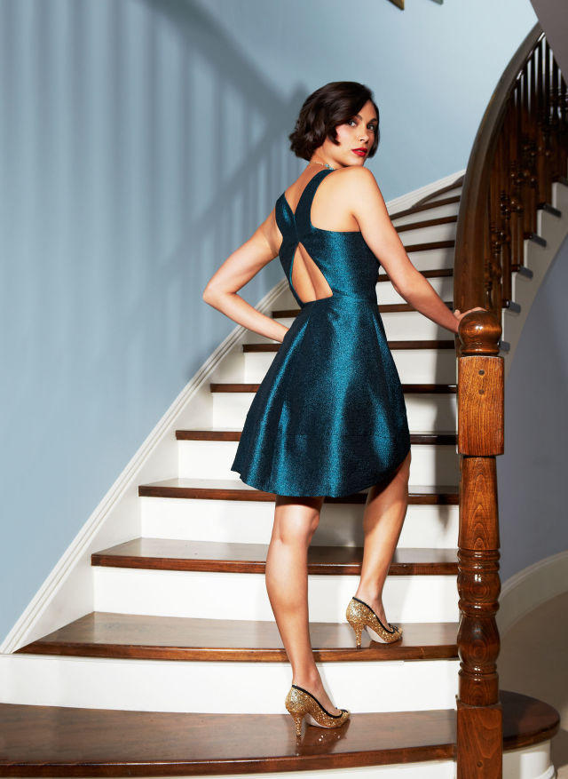 Sexy Holiday Party Dresses Morena Baccarin Wearing Sexy