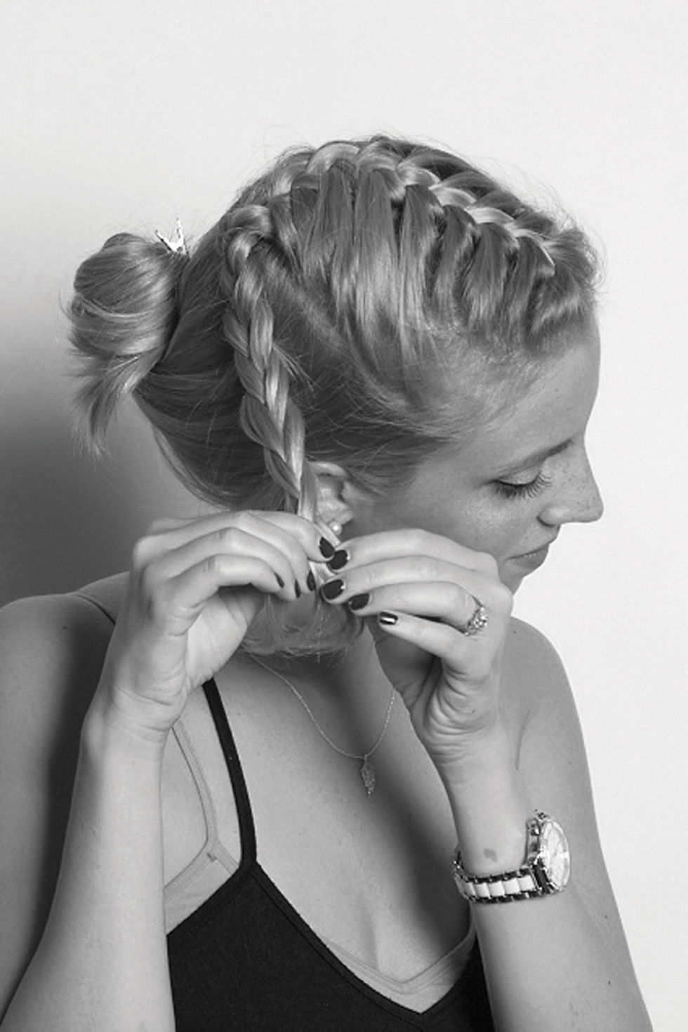 French Braid Ponytail How To Make A French Braid How To French Braid  Solution For How Frenchbraid Pigtails