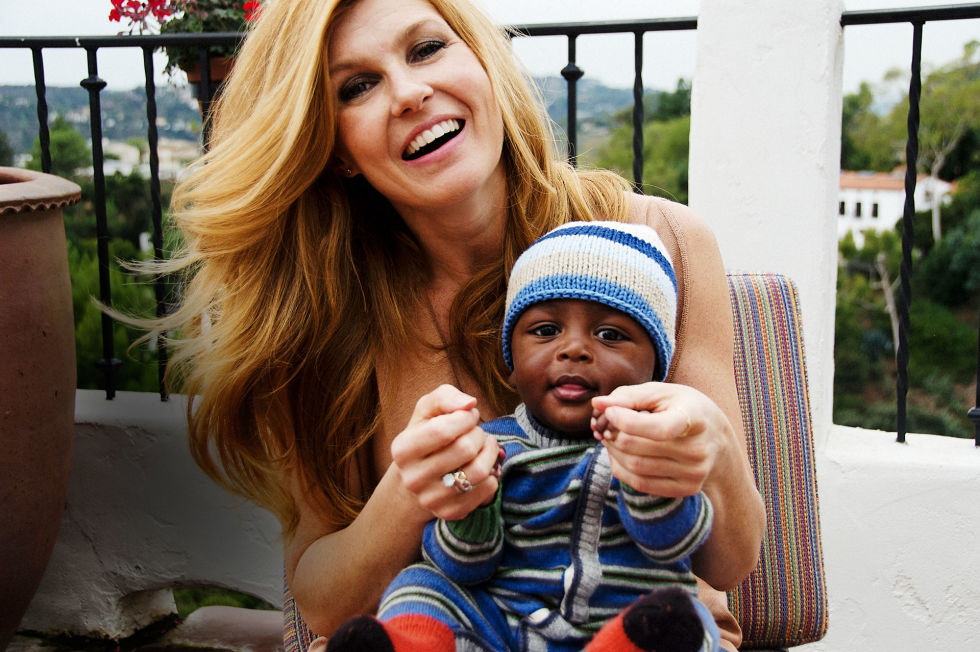 Connie Britton with her son Yoby