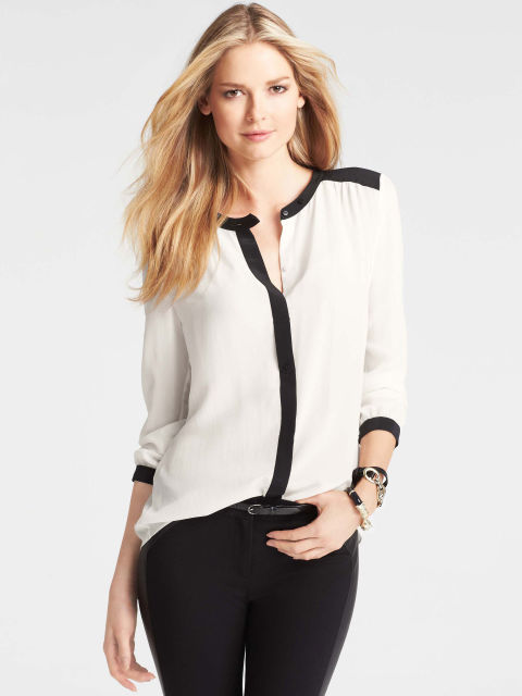Blouse Black And White | Fashion Ql