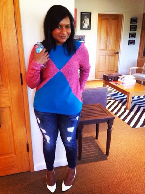 Mindy Kaling S Best Ouftis Mindy Kaling Instagram Fashion