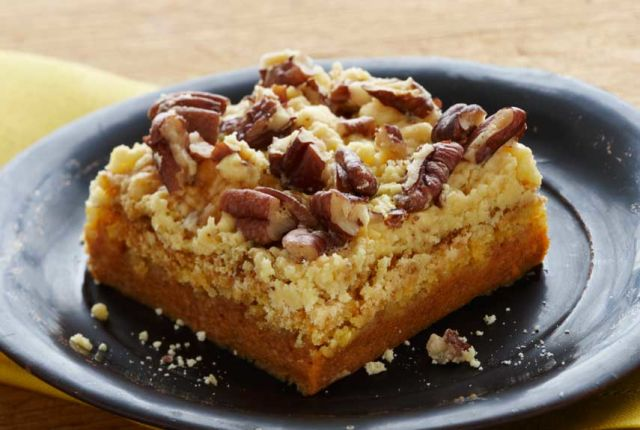 Pumpkin Pie Bars Using Cake Mix