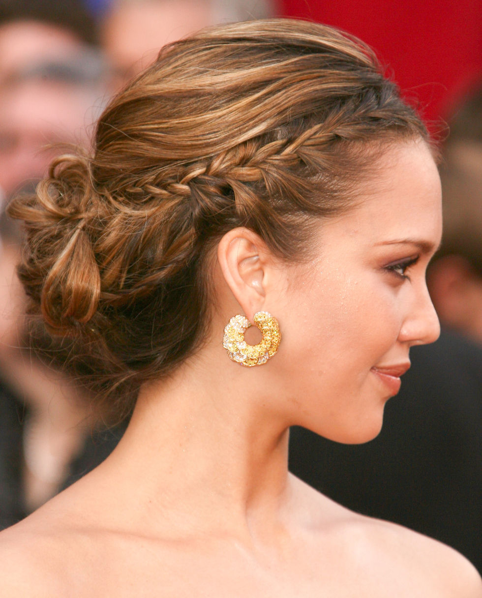 Jessica Alba Updo Hairstyles Glam And Easy Updos Wedding Hair Ideas