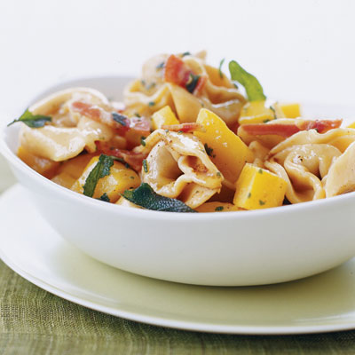 Tortelloni With Butternut Squash, Pancetta, and Sage Butter
