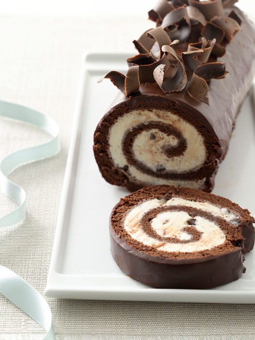 Peppermint Ice Cream Cake Roll Recipe