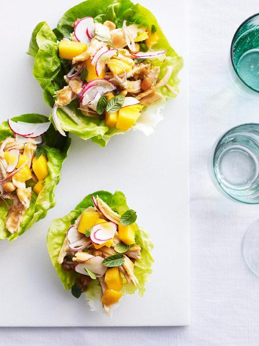 Chicken-Peanut Salad in Lettuce Cups Recipe