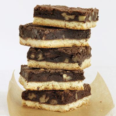 Brownie Pecan Shortbread Bars Recipe