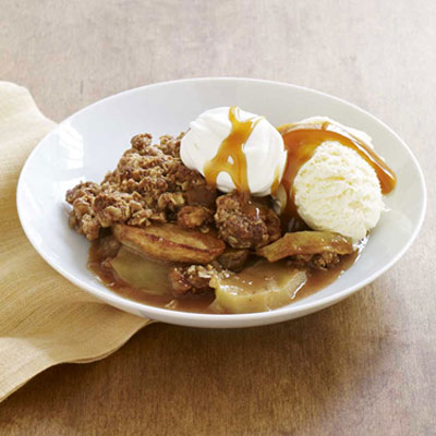 Healthier Warm Apple Crisp