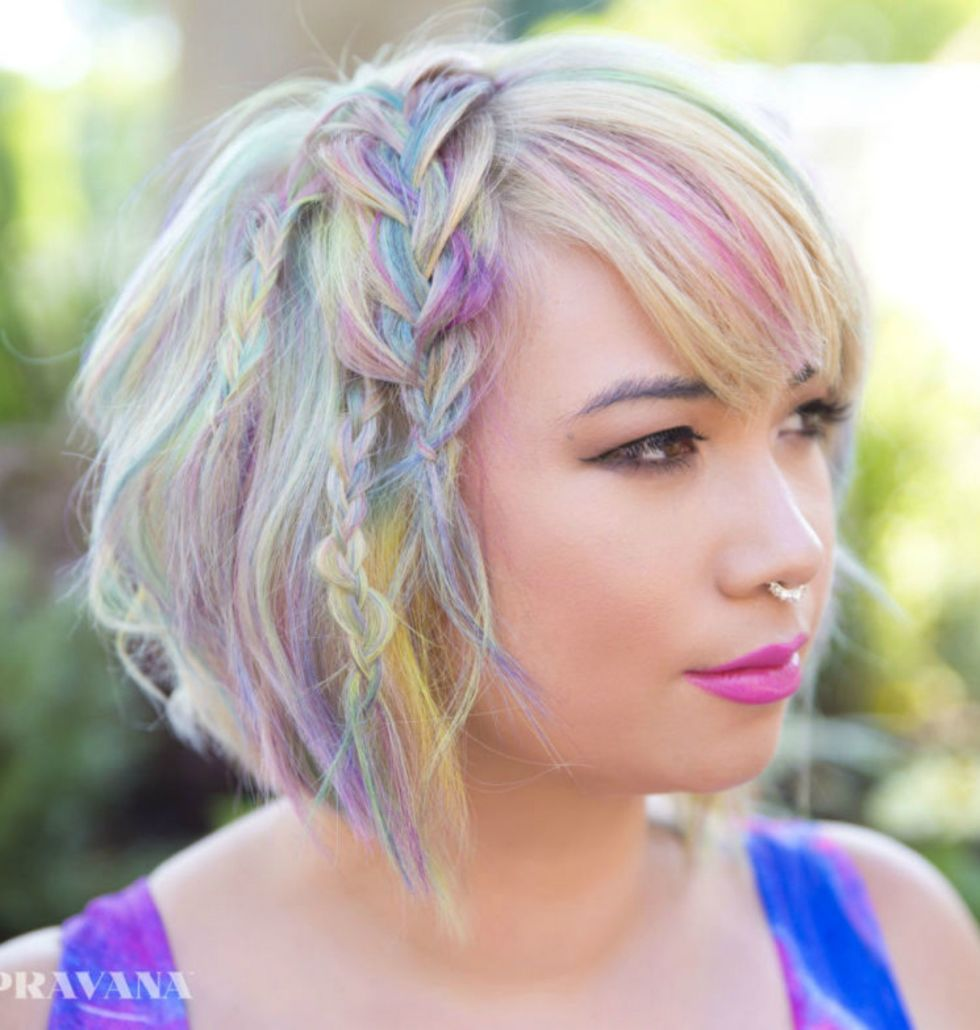 16 cool multi-colored hair ideas - how to get multi color hair dye