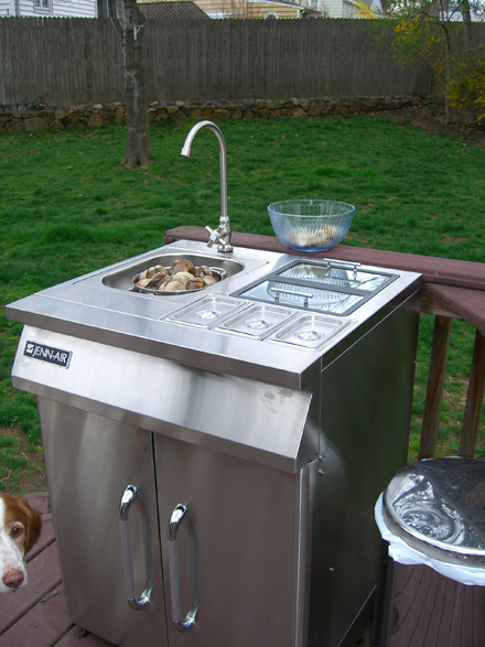outdoor kitchen sink outdoor sink and the living s easy 1306